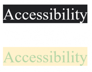 Accessibility Contrast Example